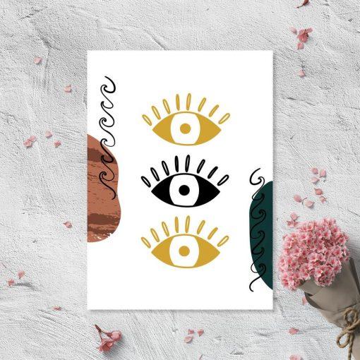 Plakat z trzema oczami