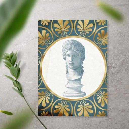 Plakat rzeźba popiersia kobiety
