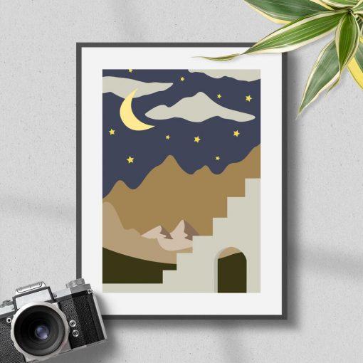 Plakat nocne niebo