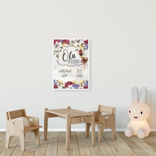 Plakat z imieniem dla dziewczynek - Polny elf