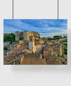 Plakat do salonu z architekturą miasteczka w okresu starożytnego