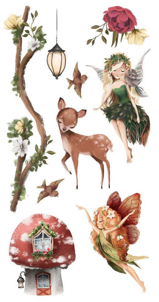 Leśne stworzenia - Komplet naklejek dziecięcych