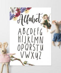 Plakat z literkami do szkolnej klasy