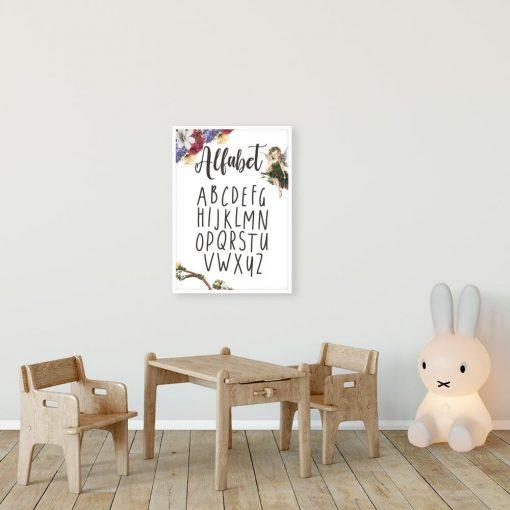 Plakat z alfabetem do ozdoby szkolnej klasy