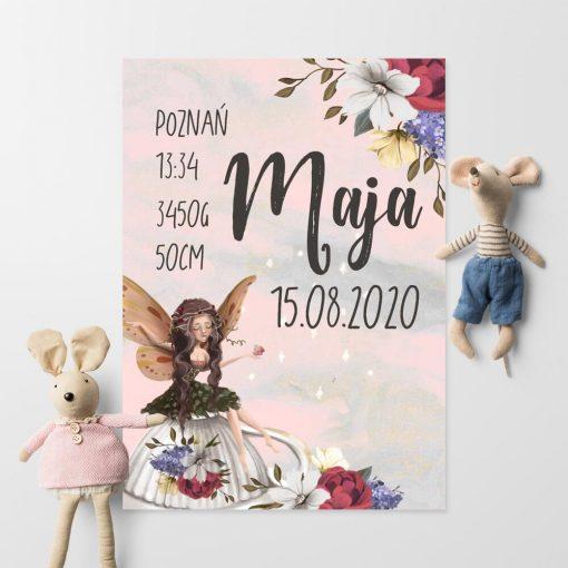 Plakat imienny z wesołym elfem dla dzieci