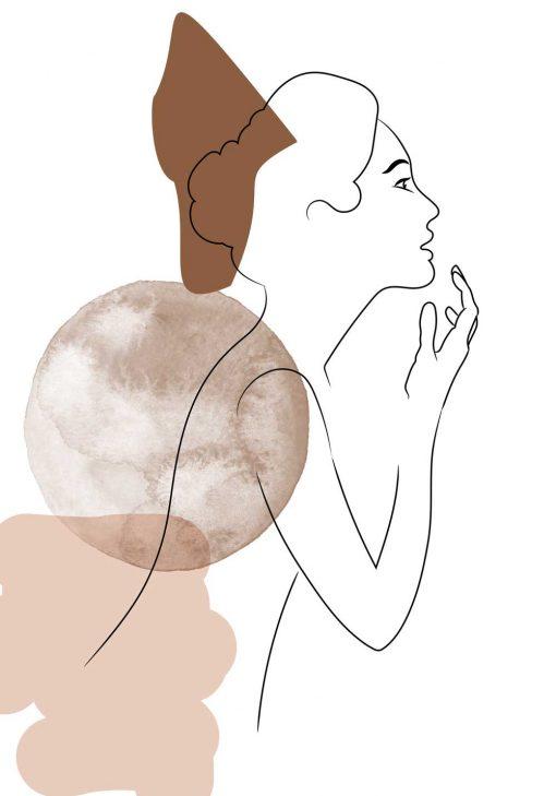 Plakat zarys kobiecego ciała