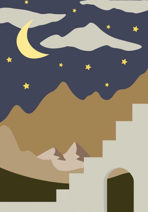 Plakat rozgwieżdżone niebo