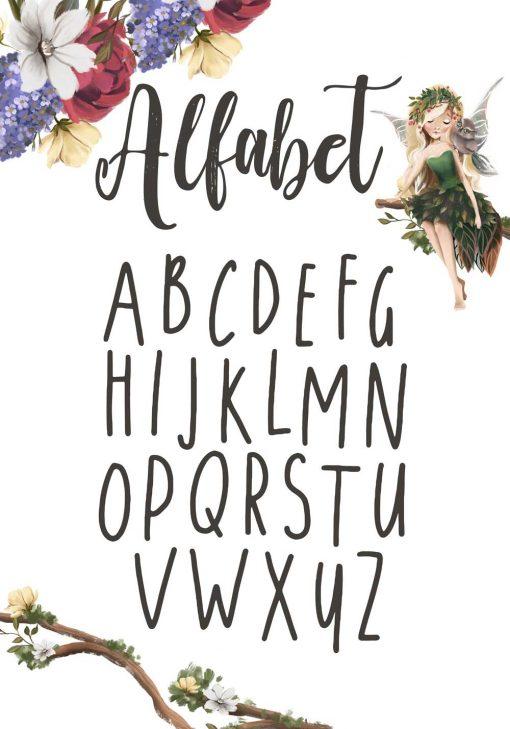 Plakat z alfabetem do przedszkola