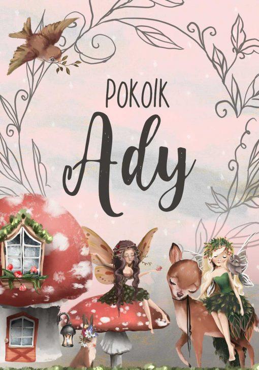 Plakat imienny dla dziewczynki - Elfy