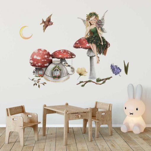 Kolorowe naklejki dla dzieci z magicznym motywem elfów
