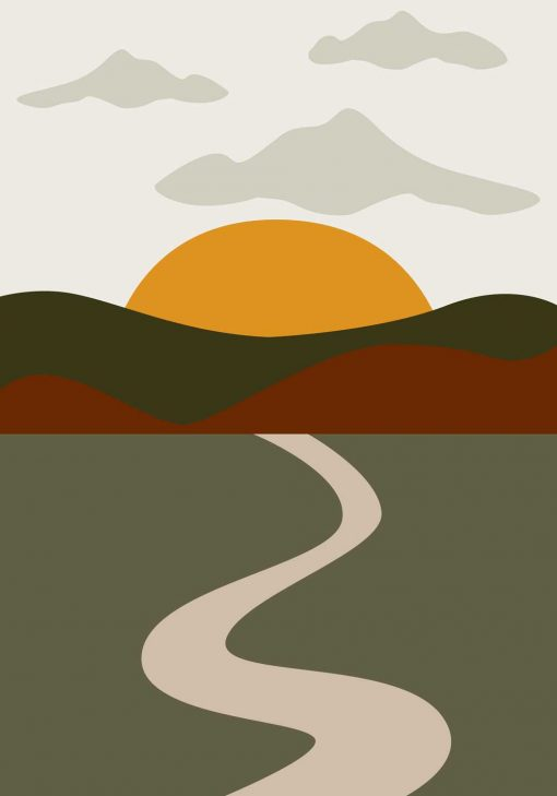 Plakat z motywem krajobrazu