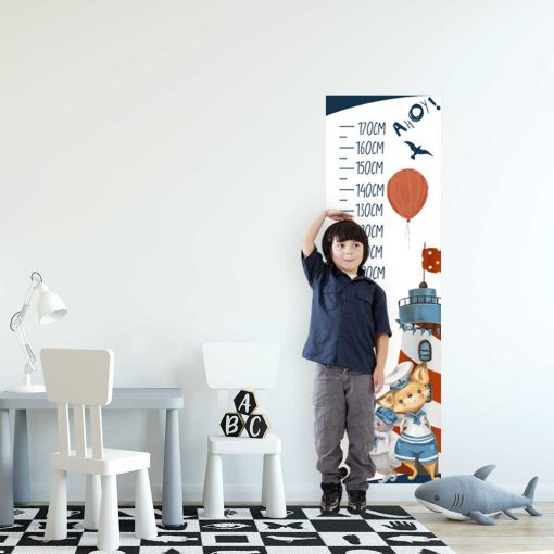Miarka wzrostu dla chłopca - Króliczek marynarz
