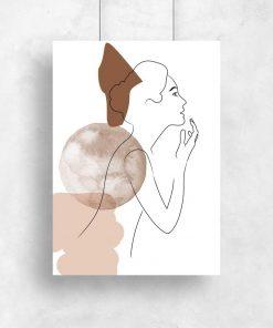 Plakat do oprawienia z kobietą