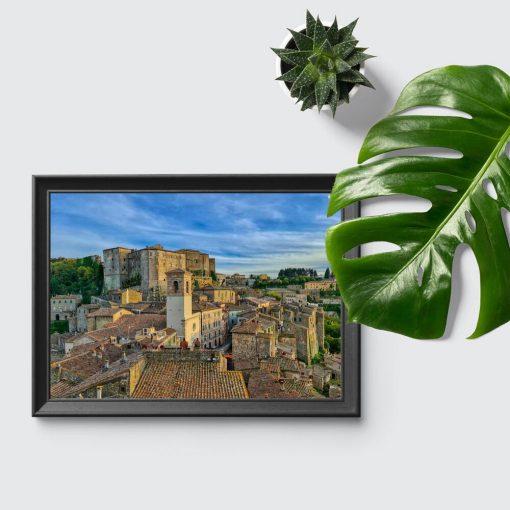 Plakat toskańskie niebo nad miastem