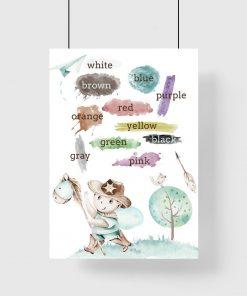 Plakat dla chłopca - Kolory