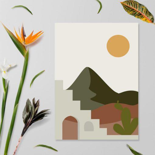 Plakat słońce w Meksyku