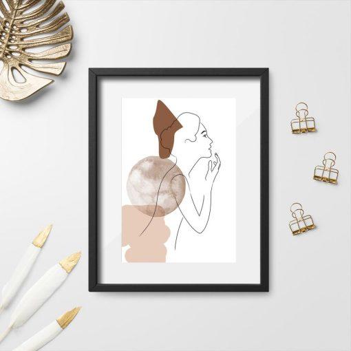 Plakat z kobietą do dekoracji salonu