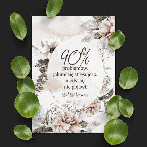 Plakat o zdrowym podejściu do życia- książka Wójtowicza