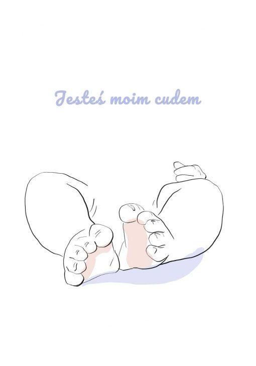Dziecięce stópki -plakat