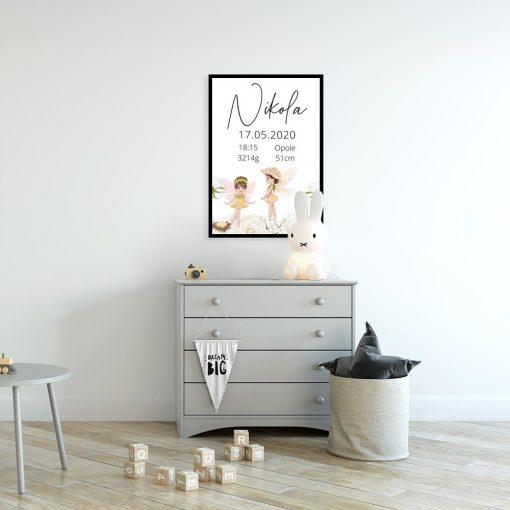 Plakat z tabliczką dla dziewczynki