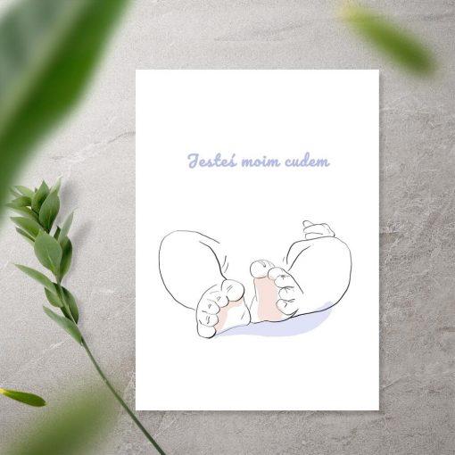 Plakat z motywem dziecka
