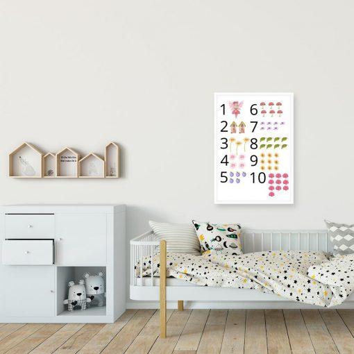 Kolorowy plakat dla dzieci z motywem muchomorków