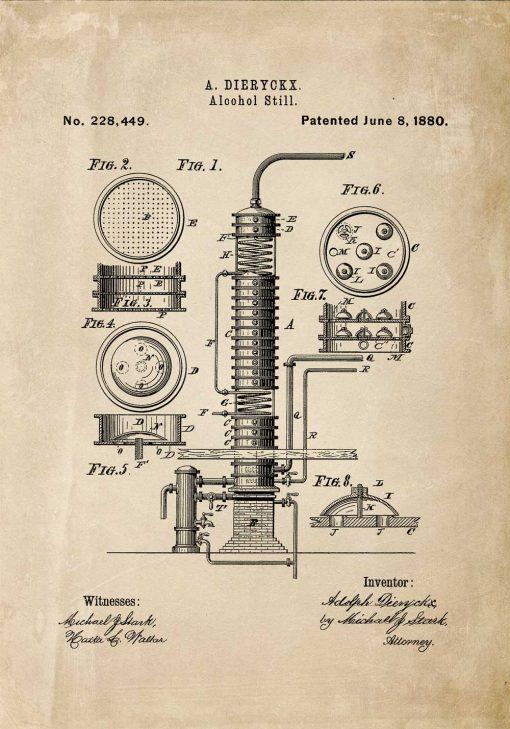 Patent na maszynę - plakat