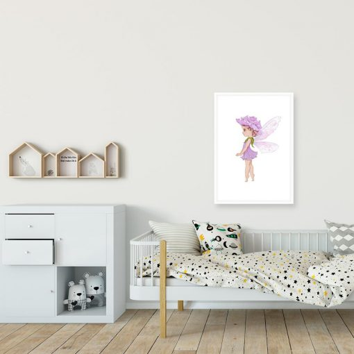 Plakat z kwiatową wróżką dla dziewczynki