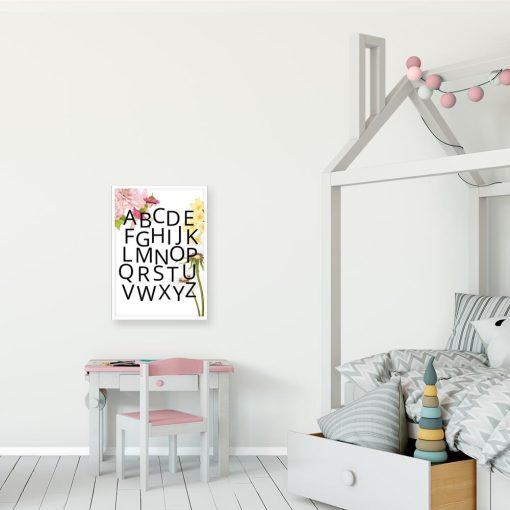 Plakat dziewczęcy z różową wróżką