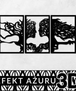 ażurowy panel z twarzami z drzewami