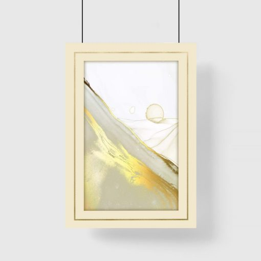 Piękny plakat ze złocista smugą