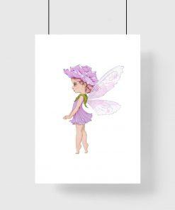 Plakat z kwiatową wróżką do pokoju dziecinnego