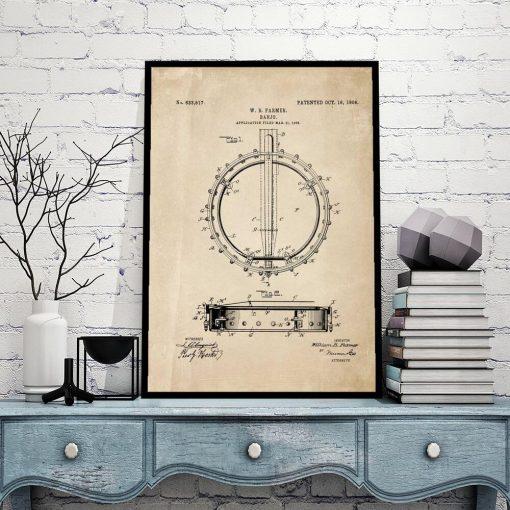 Plakat dla muzyka - Bandżo do restauracji