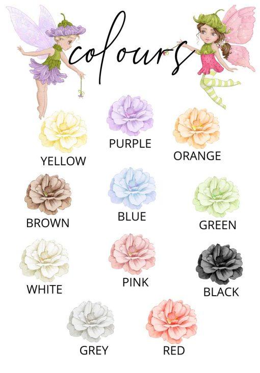 Plakat do pokoju rodzeństwa - Kolorowe kwiaty