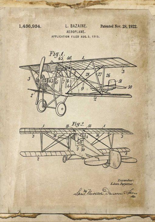 Plakat z aeroplanem