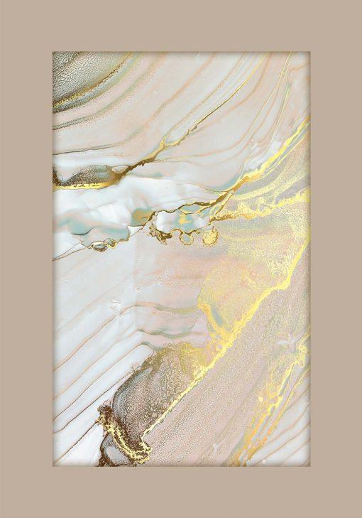 Poster z marmurowym drapowaniem