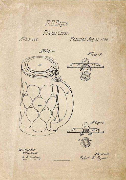 Plakat patent na osłonkę na piwny kufel
