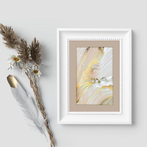 Plakat z motywem linii do dekoracji salonu
