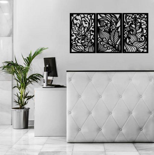 Egzotyczna roślinność na ażurowym panelu