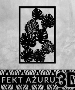 Wycinana ozdoba na ścianę z motywem botanicznym wzorem
