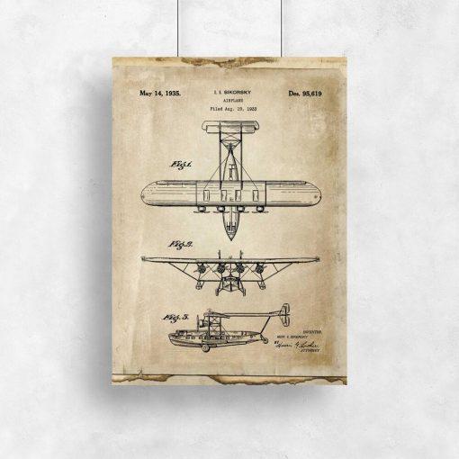 Stary samolot na plakacie