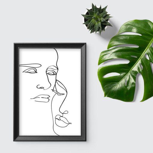 Plakat studium twarzy