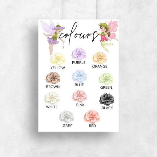 Plakat dla dzieci - Kolorowe kwiaty