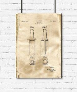 Plakat patent na butelkę do piwa z 1933r.