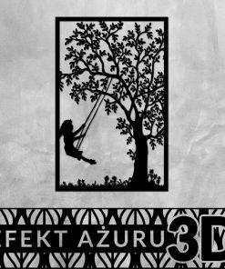 Dziewczynka i drzewo - dekoracja 3d