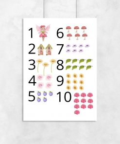 Kolorowy plakat dziecięcy w muchomorki
