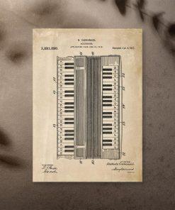 Plakat vintage z harmonią