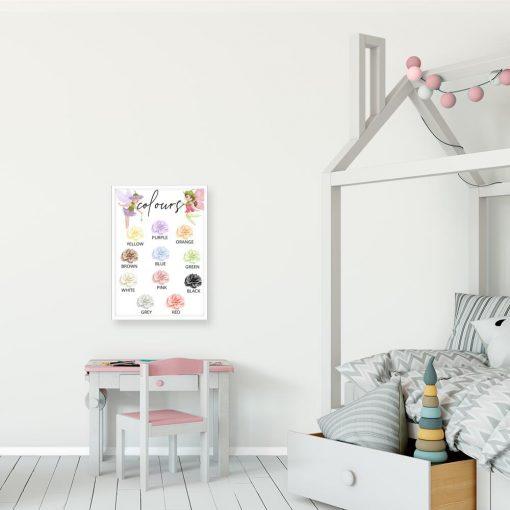 Plakat do pokoju przedszkolaka - Kolorowe kwiaty