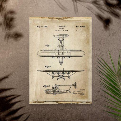 Plakat do gabinetu z samolotem