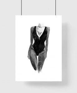 Poster z motywem kobiety